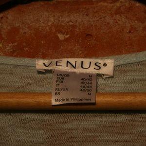 VENUS Tops - Venus Silver Beading + Crochet Scoop Neck Blouse